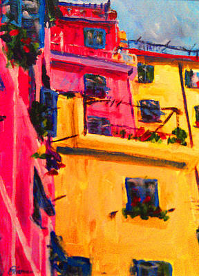 Painting - Five Terra Italy by Michael Tieman