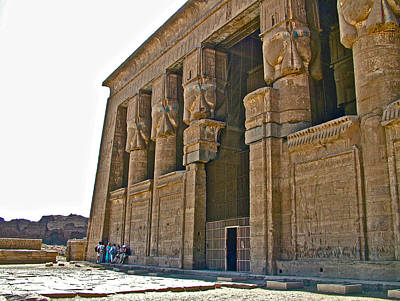 Hathor Digital Art - Five Thousand Year Old Temple Of Hathor In Dendera- Egypt by Ruth Hager
