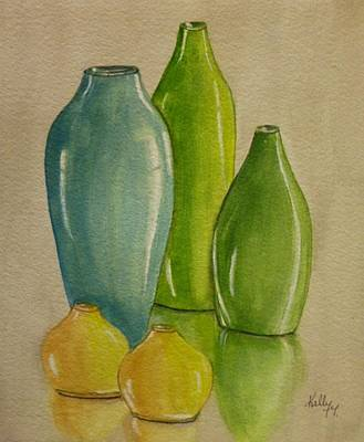 Five Vases Art Print