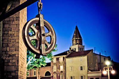 Wellspring Photograph - Five Wells Square Pulley In Zadar by Brch Photography
