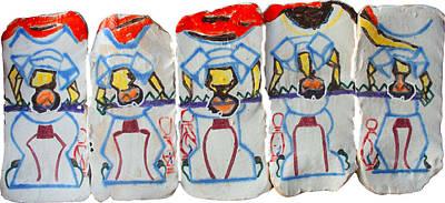 Beloved Saviour Ceramic Art - Five Wise Virgins Algorithm by Gloria Ssali
