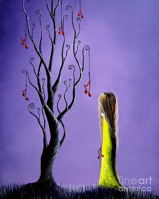Music Inspired Art Painting - Five Wishes Left By Shawna Erback by Shawna Erback