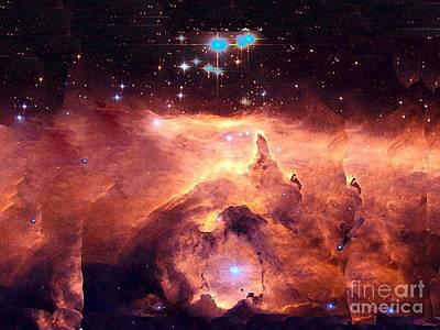 Photograph - Star Cluster In Sagittauris Nebula by Merton Allen