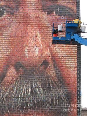 Fixing His Face Art Print by Ann Horn