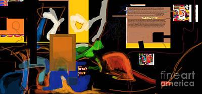 Inner Self Digital Art - Fixing Space 1g by David Baruch Wolk
