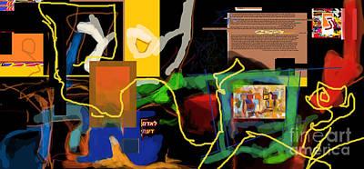 Inner Self Digital Art - Fixing Space 1k by David Baruch Wolk