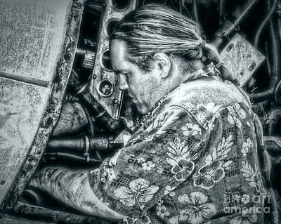 Fixing The Old Engine Original by Dieter  Lesche