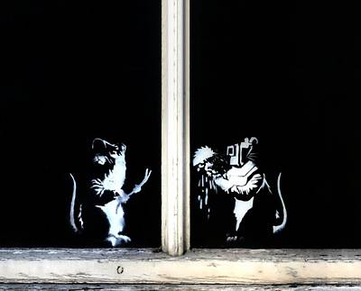 Famous Stencils Photograph - Fixing Windows  by A Rey
