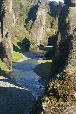Photograph - Fjadrargljufur Iceland by Rudi Prott