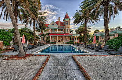 Southernmost House Key West Art Print by Frank J Benz