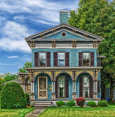 Older Home With Interesting Trim Work Art Print by Frank J Benz