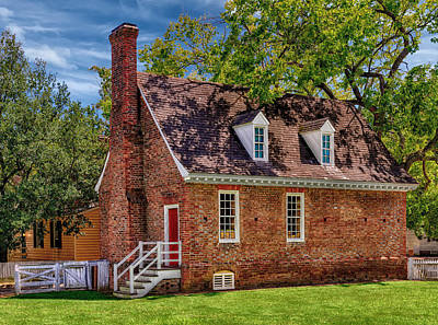 Old Colonial Brick House Print by Frank J Benz