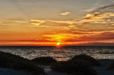 Southwest Florida Sunset Photograph - Sand Dune Sunset by Frank J Benz