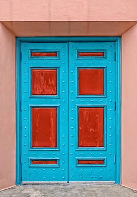 Door With No Handles Print by Frank J Benz