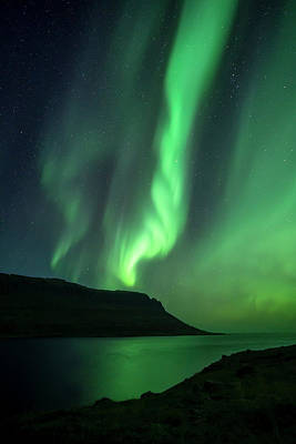 Polar Wall Art - Photograph - Fjord Night by Karsten Wrobel