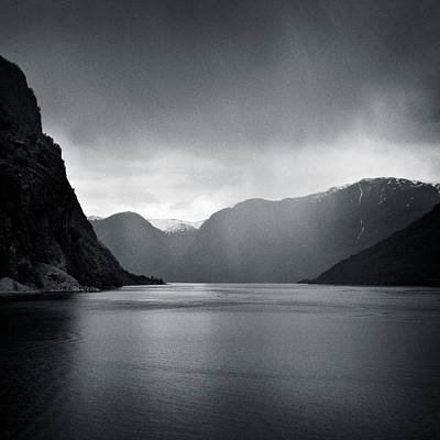 Escape Photograph - Fjord Rain by Dave Bowman