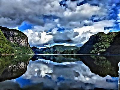 Painting - Fjords Of Norway by Florian Rodarte