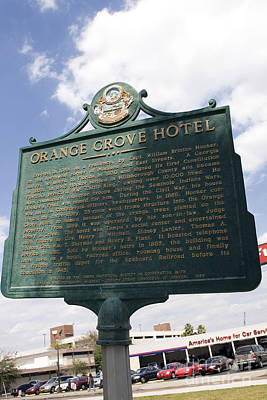 Fl-1021 Orange Grove Hotel Art Print by Jason O Watson