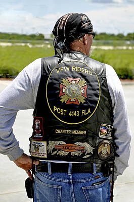 Osama Bin Laden Photograph - Fla Post 4143 Vfw Rider Color Usa by Sally Rockefeller