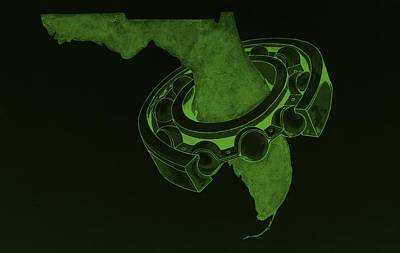 Photograph - Fla Sprocket Olive by Rob Hans