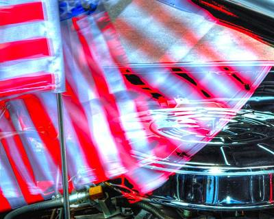 Jerry Sodorff Royalty-Free and Rights-Managed Images - Flag and Air Filter 14760 by Jerry Sodorff