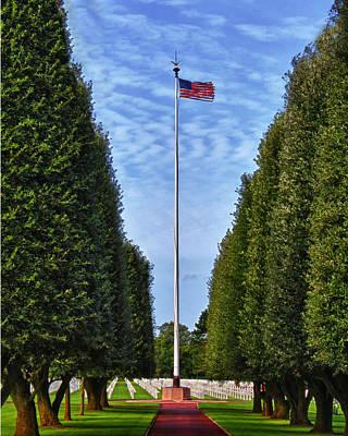 Memorial Day Mixed Media - Flag At Normandie by Deborah Boyd