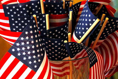 Photograph - Flag Bouquet by Mamie Gunning