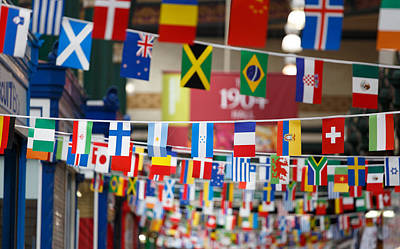 Photograph - Flag Bunting by Paul Indigo