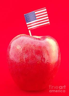 Photograph - Flag Down An Apple by Barbie Corbett-Newmin