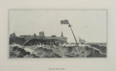 Flag Flying In A Stormy Sea Art Print by British Library
