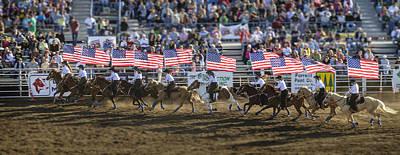 Photograph - Flag Line by Tom Zachman