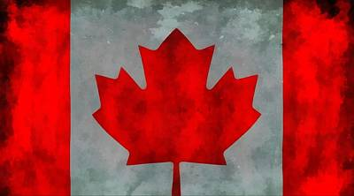 Painting - Flag Of Canada by Dan Sproul