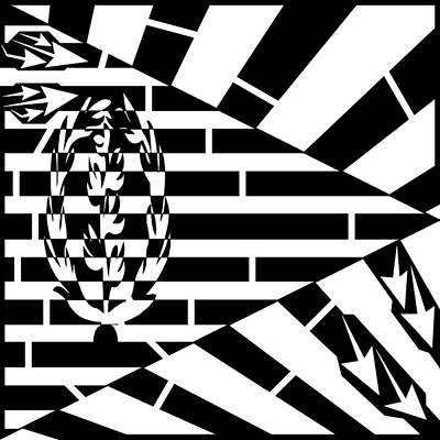 Drawing - Flag Of Eritrea Maze by Yonatan Frimer Maze Artist