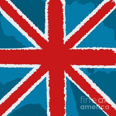 Britain Wall Art - Digital Art - Flag Of Great Britain by Yuyula