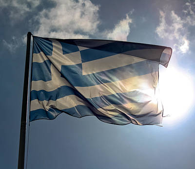 Photograph - Flag Of Greece by Anthony Doudt