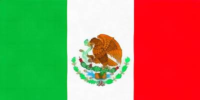 Mexican Independence Mixed Media - Flag Of Mexico by Dan Sproul