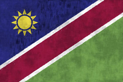 Flag Of Namibia Art Print by World Art Prints And Designs