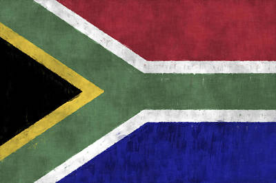 Flag Of South Africa Art Print by World Art Prints And Designs