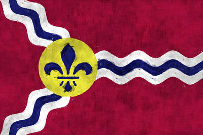Flag Of St.louis Art Print by World Art Prints And Designs