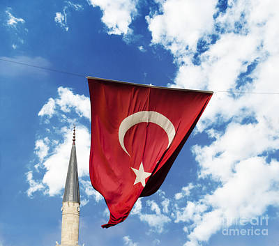 Flag Of Turkey Art Print by Jelena Jovanovic