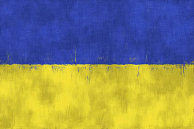 Slavic Digital Art - Flag Of Ukraine by World Art Prints And Designs