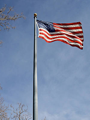American Flag Photograph - Flag On Duty 2013  by James Warren
