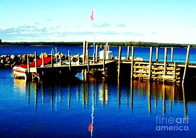 Photograph - Flag Over Harbor by Desiree Paquette