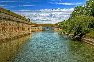 Photograph - Flag Over The Moat by Jerry Gammon