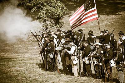 Against The War Photograph - Flag Rally by Steven Bateson