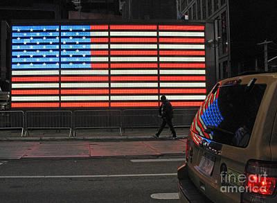 Photograph - Flag Reflected by Louise Peardon