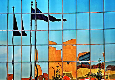 Photograph - Flag Reflections by Charline Xia