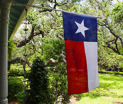 Photograph - Flag -  Texas The Lone Star State -  Luther Fine Art by Luther Fine Art