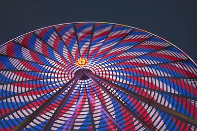 Flag Wheel Art Print by Darleen Stry