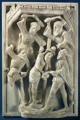 Alabaster Painting - Flagellation Of Christ by Granger